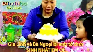 Gia Linh cùng bà ngoại bí mật tổ chức sinh nhật em Cò treo LÔ GÔ SN bày bánh kẹo đồ chơi