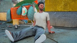 Story Of A Homeless Man That Became Famous -  gta 5