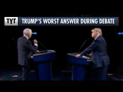 Trump's WORST Answer During the Final Presidential Debate