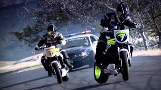 Ken Block DC Police Chase Bikes, Incredible Drifting HD