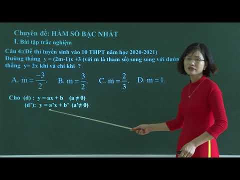 Chuyên đề: Ôn tập Hàm số bậc nhất, Trường THCS Phan Thiết, TP. Tuyên Quang