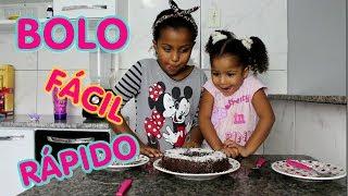 BOLO FÁCIL E RÁPIDO DE CHOCOLATE