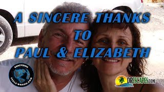 10/15/2017 A Sincere Thanks to Paul & Elizabeth