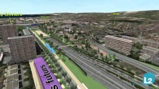 Rocade L2 Marseille - Tracé complet en 3D