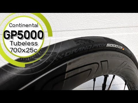 Continental Grand Prix 5000 Tubeless Tire 700x25c Weight, Width & Review of Features