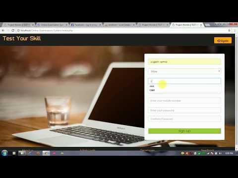 Projet de système d'examen en ligne  avec code source en php mysql