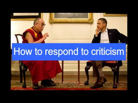 How To Respond To Criticism
