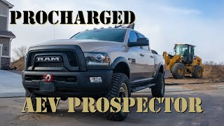 Power Wagon AEV Prospector On 37s With A ProCharger