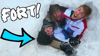 EPIC IGLOO FORT IN THE SNOW!