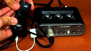 RO7STUDIO - Gravando com a M-Audio Fast Track no Iphone 5