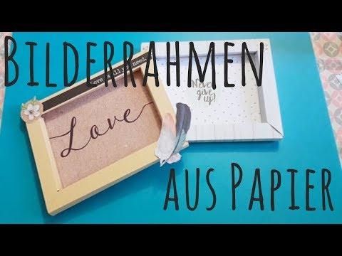 DIY ✿ Bilderrahmen aus Papier ✿ Basteln mit Papier ✿ aus dem Action Haul  ✿ Scrapbook