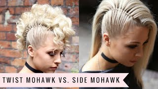 Twist Mohawk VS. Side Mohawk By SweetHearts Hair