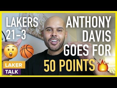 Anthony Davis Scores 50 Points in Lakers Win Over Timberwolves, LeBron w/ 32pts, 13ast