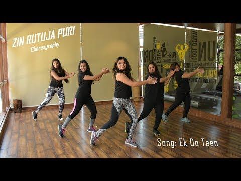Ek Do Teen | Zumba Dance workout | Baaghi 2 | Choreographed by Zin Rutuja Puri