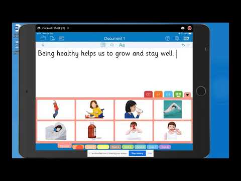 Screenshot of video: An introduction to Literacy Support App Clicker Writer