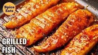 GRILLED FISH | SPICY GRILLED FISH | PAN GRILLED FISH | GRILL FISH RECIPE