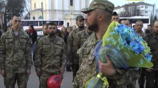 Приїзд перших демобілізованих 14-ої ОМБр у Володимир-Волинський