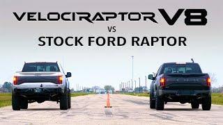 Hennessey V8 Raptor vs Stock Ford Raptor Comparison