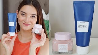 glow recipe skincare review: watermelon sleeping mask & blueberry bounce cleanser!