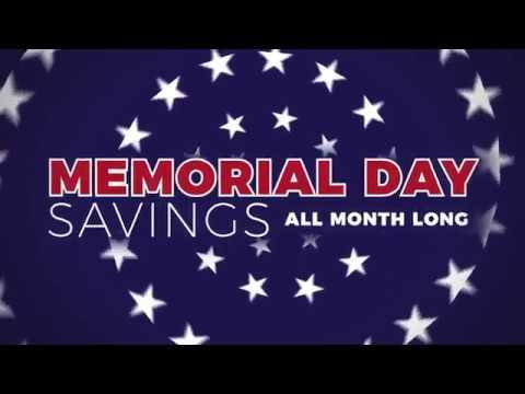 Memorial Day Savings - 2019