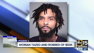 Woman Tased and robbed of $50,000