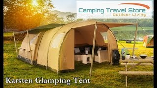 Karsten Air tentのグランピングの様子