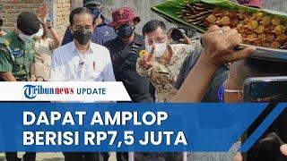 Teriak Panggil Jokowi, Pedagang Sate di Deli Serdang Dapat Amplop Berisi Uang hingga Rp7,5 Juta