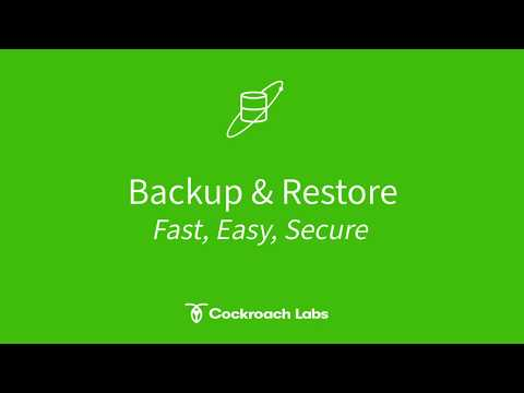 Improved Backup & Restore Capabilities in CockroachDB 20.1