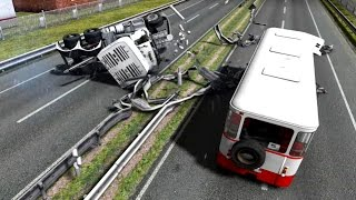 Mack Pinnacle & Liaz PhysX - Euro Truck Simulator 2 - New Models - Crash Test