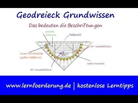 Geodreieck Grundwissen - wie funktioniert das Geodreieck?