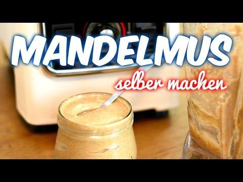 Rohes Mandelmus im Mixer selber machen [VEGAN]