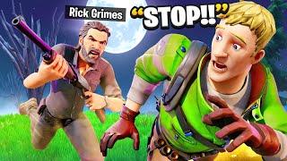 I Pretended To Be BOSS Rick Grimes.. (Fortnite)