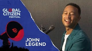 John Legend Performs All of Me | Global Citizen Festival NYC 2018