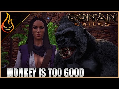 Enter The Silverback Gorilla Conan Exiles Server Play Ep5