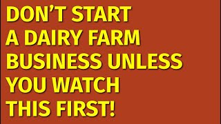 How to Start a Dairy Farm Business | Including Free Dairy Farm Business Plan Template