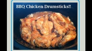 Cookw/Sofia: BBQ Chicken Drumsticks (Crock-Pot)