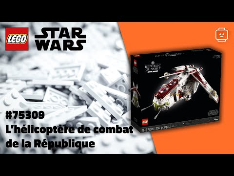 Vidéo LEGO Star Wars 75309 : L'hélicoptère de combat de la République
