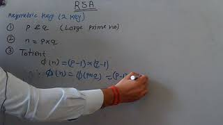 RSA Algorithm in Cryptography and Network security in Hindi.