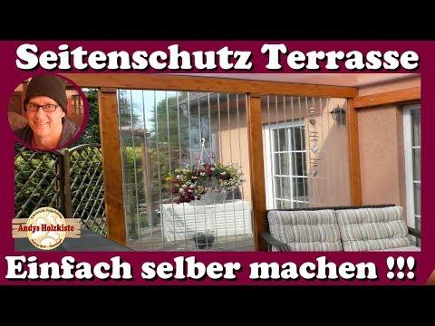 Windschutz, Wetterschutz und Sichtschutz für Terrasse selber machen