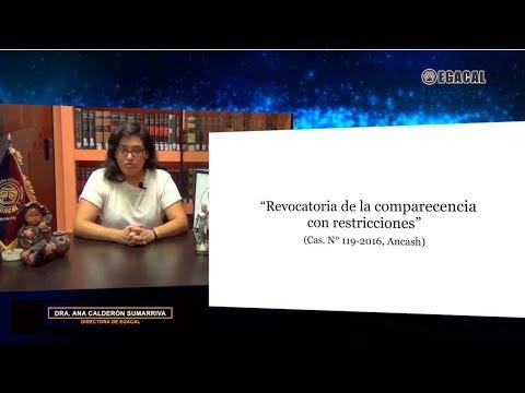 Revocatoria de la comparecencia con restricciones - Luces Cámara Derecho 110