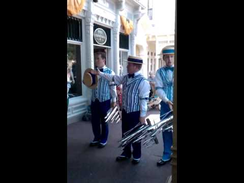 Here I am singing tenor with the Dapper Dans of Main Street USA at Walt Disney World's Magic Kingdom.