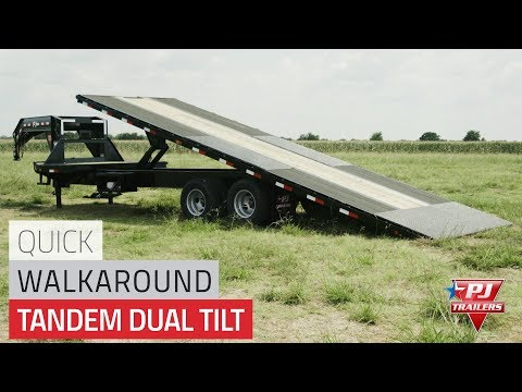 2021 PJ Trailers Tandem Dual Tilt (TD) 24 ft. in Elk Grove, California - Video 1