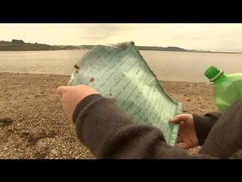 رسالة تعبر الأطلسي وتصل الى شواطىء إيرلندا بعد ثماني سنوات