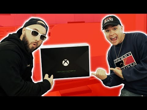 XBOX ONE X PROJECT SCORPIO EDITION IS LIT!!! **chillin' with Legit Vlogs**