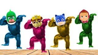 Wrong Heads Paw Patrol Pj masks Masha Spiderman Head Gorilla Colors Learn
