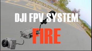 DJI FPV VISTA FIRE - The drone is on fire.