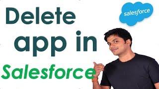 How to delete app in salesforce lightning | uninstall package | Salesforce lightning tutorial