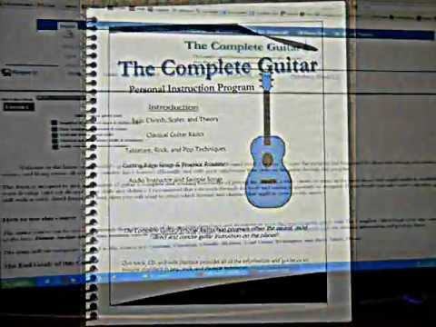 Introduction to The Complete Guitar book, CD and web application, covers everything from the basics to intermediate guitar skills .