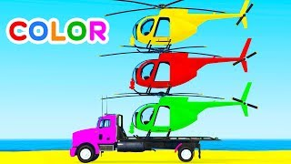 Fun Learn Colors Nursery Rhymes Helicopter Cars w Spiderman for Babies – Superheroes for kids