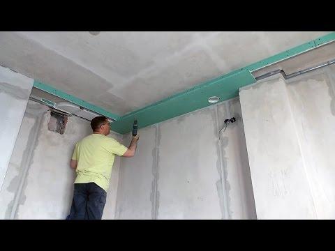 Монтаж вентиляции на кухне в коробе из гипсокартона